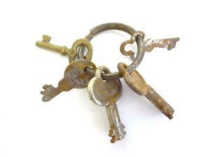 Antique Brass Steel Eagle Lock Co Safe Cabinet Door Lock Keys Used Old Metal