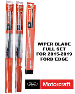 Motorcraft Wiper Blades Genuine OEM Complete Set of 3 For Ford Edge 2015-2019