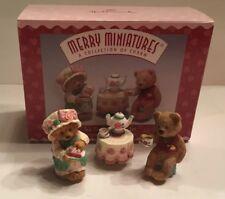 Hallmark Merry Miniatures Valentines - Lot of 3 - Penda Kids; Tea Time; Cameron