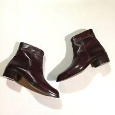 Vtg Jon Franco Pirelli Mens Size 8 Italian Leather Zipper Ankle Boots In Brown