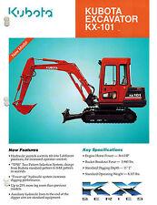 KUBOTA  KX-101 EXCAVATOR SALES and SPECIFICATIONS BROCHURE