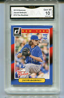 2014 Jacob DeGrom Donruss  The Rookies Rookie Gem Mint 10  #74