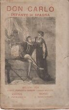 Felice Venosta: Don Carlo, Infante di Spagna 1876