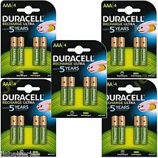20 x AAA Duracell  Rechargeable 850 mAh  Batteries 850mAh Ultra pre Charged