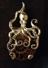 OCTOPUS Pendant AMMONITE Jewelry STERLING SILVER Cathulu MAGIC
