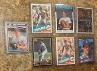 (7) Orel Hershiser 1985 Donruss Fleer Topps OPC Rookie Card lot RC Dodgers 1986