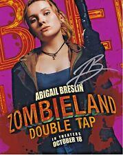 Abigail Breslin Zombieland autographed 8x10 photograph RP