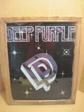 OLD VINTAGE ROCK DEEP PURPLE POSTER PICTURE WOOD FRAME