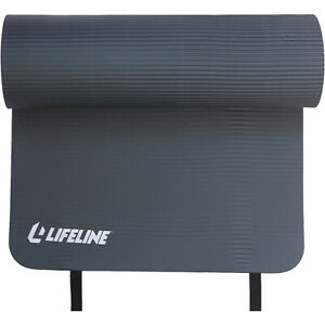 Lifeline USA Exercise Pro Double-Sided Fitness Mat - Charcoal
