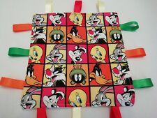 Taggy blanket/comfort blanket/snuggle blanket. Looney Tunes fabric.