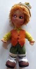 VINTAGE TOY  DOLL BIMBO BOY PANNO LENCI HAND MADE 60-70s H:33 CM   REMI?