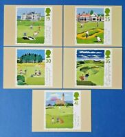 Set of 5 PHQ Stamp Postcard Set No.163 Scottish Golf Courses 1994 EA6