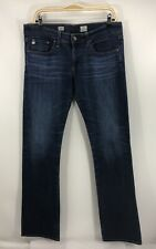 AG Adriano Goldshmied Women's Tomboy Relaxed Straight Leg Dark Wash Jeans Sz 30R