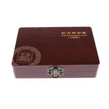 27mm Coin Storage Box 10 Grids Coin Holder Case Storage Wooden Box