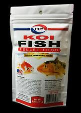 NEW 2.5 oz KOI FISH FORMULA PELLET POND FOOD NATURAL COLOR ENHANCING SINKING
