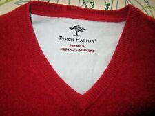 Fein Gestrickter Herren Pullover von McNeal Farbe Rot Schurw./Kaschmir Gr. L