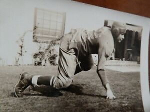 Old Photo Football Player boy 1940s 1950s