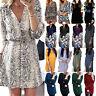 Womens Autumn Long Sleeve Mini Dress Ladies Casual Shirt Tunic Long Tops Blouse