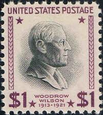 """#832c 1954 $1 Wilson Presidential """"Dry Print"""" Issue Mint-Og/Nh"""