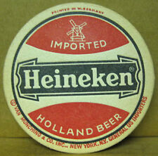 HEINEKEN IMPORTED HOLLAND BEER Old COASTER, Mat with WINDMILL, NETHERLANDS
