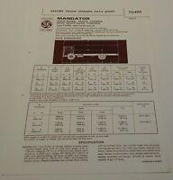 British Leyland Trucks AEC Mandator Truck  export Data Sheet advertising leaflet