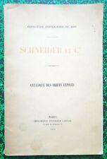 Exposition Universelle de 1900 - Rare Catalogue Schneider & Cie Canons Locos Etc