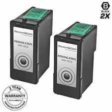 2 Lexmark 36XL BLACK HY Ink Cartridge 18C2170 for 36 XL X6650 X5650es Printer