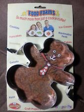 "TEDDY BEAR Cookie Cutter Food Form Pancakes Eggs Brownies Pizza Crafts 7"" Metal"