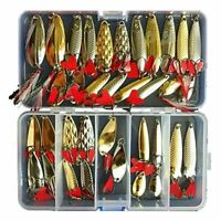 Fishing Lures Spoon Bait 35Pcs Set Metal Lure Kit Artificias Lure Hard Bait Fres