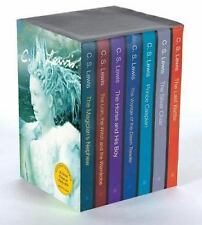 THE CHRONICLES OF NARNIA 7 Book Gift BOX Set NEW CS LEWIS LION WITCH WARDROBE