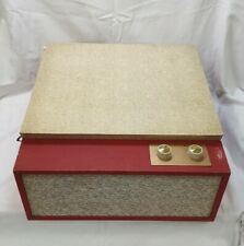 Vintage Original BSR Record Player 1960/70's Working Red & Cream Electric
