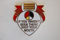 US USA Vietnam Shut Your Mouth Military Hat Lapel Pin