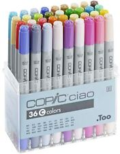 COPIC CIAO PENS 36 SET C - MANGA GRAPHIC ARTS + CRAFT MARKERS - FAST SHIPPING