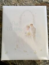 Vintage Gibson Wedding Guest Book with Scrapbook Pages and Photo Sleeves Unused