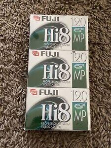 3 Pack Vintage FUJIFILM HI8 MP P6-120 Professional Grade Video Cassette Tapes