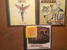 Nirvana [3 CD albums] MTV Unplugged in New York + incesticide + in utero/COBAIN