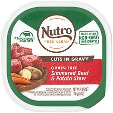 24PK NUTRO Grain Free Wet Dog Food Cuts in Gravy Simmered Beef & Potato Stew ...