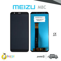 DISPLAY MEIZU M8C M908L M810H M810L LCD TOUCH SCREEN SCHERMO VETRO NERO