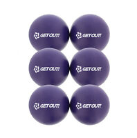 "6"" Inch Soft Latex-Free Foam Dodgeball Balls 6-Pack Set in Purple"