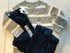 Baby Gap Boy's 4T Outfit Lined Pants Blue Thermal Shirt L/S Gray