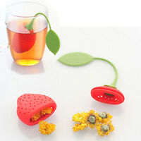Strawberry Loose Tea Leaf Strainer Herbal Spice Infuser Filter Diffuser