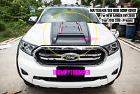 MATTEBLACK / RED HOOD SCOOP BONNET COVER FORD NEW RANGER MY2019 2018 WILDTRAK