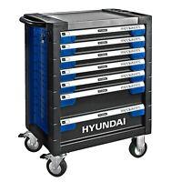 Carrello Attrezzi Completo Mobile Officina 7 Cassetti 305 Pz Hyundai Con Ruote