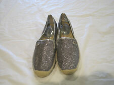 Michael Kors Silver Sparkle Jute Trim Slip-On Shoes~Size 9 Womens/8 Mens~LBDMF