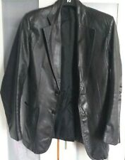 Black Faux Leather Jacket XS