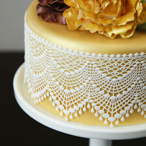 Ready Made Edible Cake Lace  Cascading Dots  £1.75 NEW PRICE