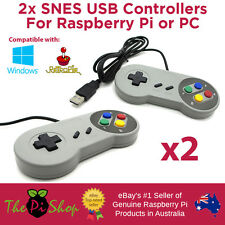 2x Super Nintendo SNES USB Controllers for PC or Raspberry Pi - Australian Stock