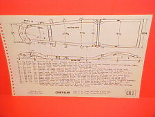 1946 1947 1948 CHRYSLER NEW YORKER CONVERTIBLE SARATOGA FRAME DIMENSION CHART
