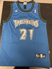 Kevin Garnett Throwback Jersey Minnesota Timberwolves Blue Size Large. IN HAND