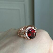 2.50Ct Oval Cut Red Ruby Diamond Halo Engagement Ring 14K White Gold Finish